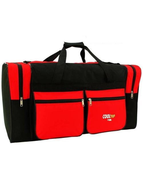 Pojemna torba podróżna model 19 RGL - czarno-czerwona