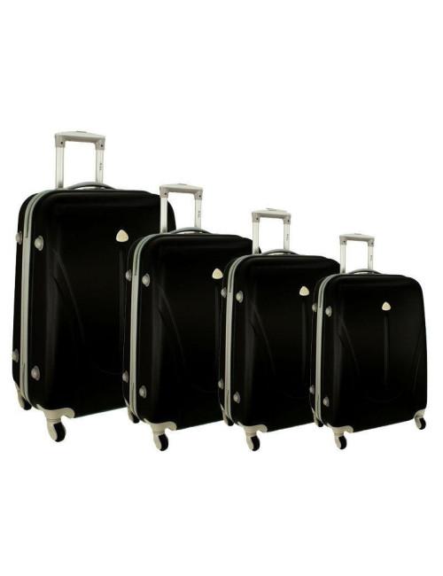 Zestaw walizek podróżnych na kółkach 883 4w1 - czarny