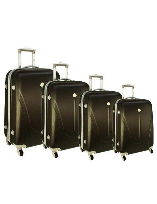 Zestaw walizek podróżnych na kółkach 883 4w1 - grafitowy