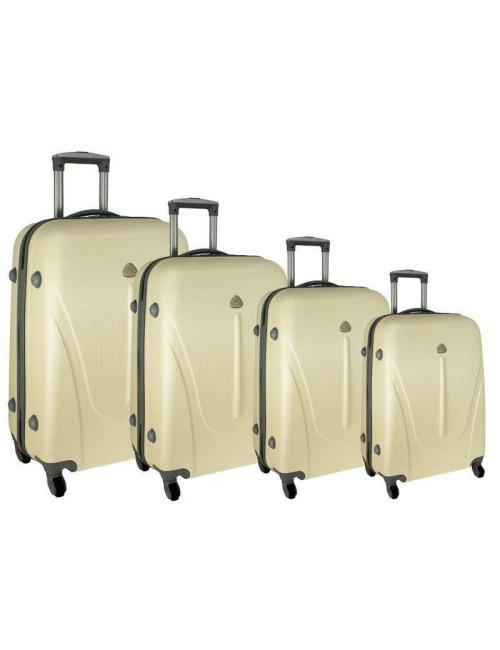 Zestaw walizek podróżnych na kółkach 883 4w1 - kremowy