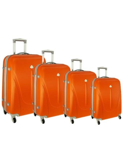 Zestaw walizek podróżnych na kółkach 883 4w1 - pomarańczowy