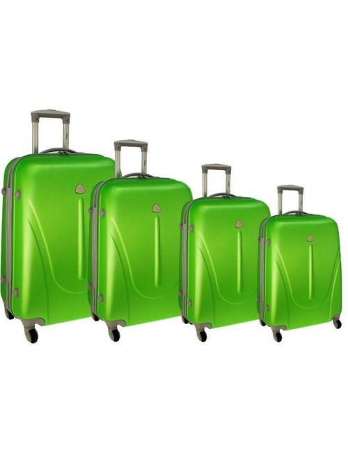 Zestaw walizek podróżnych na kółkach 883 4w1 - zielony
