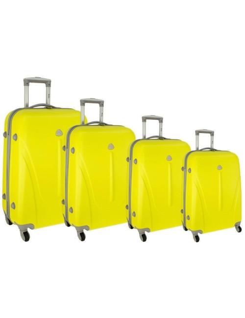 Zestaw walizek podróżnych na kółkach 883 4w1 - żółty
