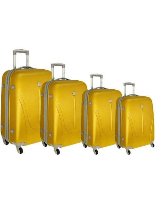 Zestaw walizek podróżnych na kółkach 883 4w1 - złoty