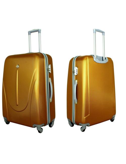 Zestaw walizek podróżnych na kółkach 883 3w1 RGL - przód i tył