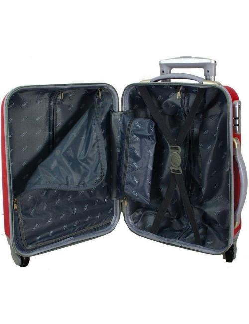 Zestaw walizek podróżnych na kółkach 883 3w1 RGL - wnętrze