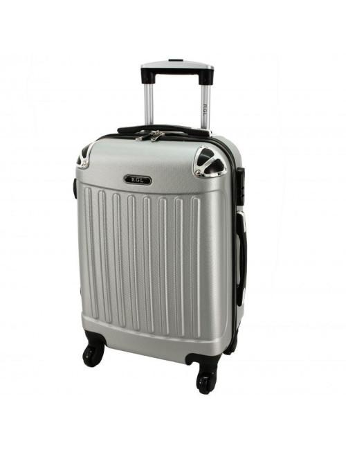 Mała walizka podróżna 735 L - Srebrna