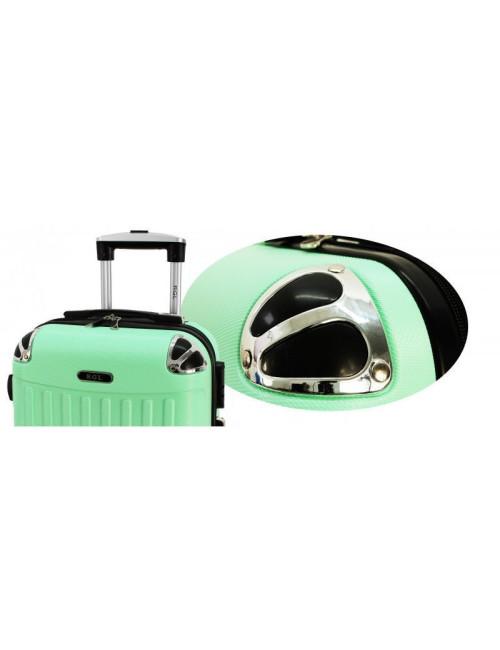 Mała walizka podróżna 735 L - Nitowe Wzmocnienie