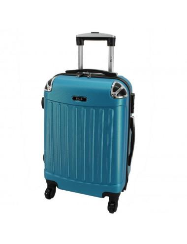 Duża walizka podróżna 735 XXL - Niebieska Metaliczna