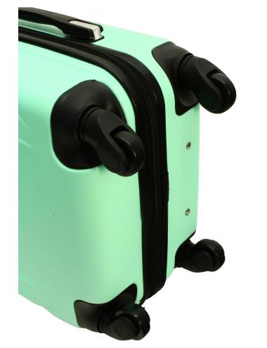 Zestaw walizek podróżnych na kółkach 3w1 780 XXL XL L - kauczukowe kółka