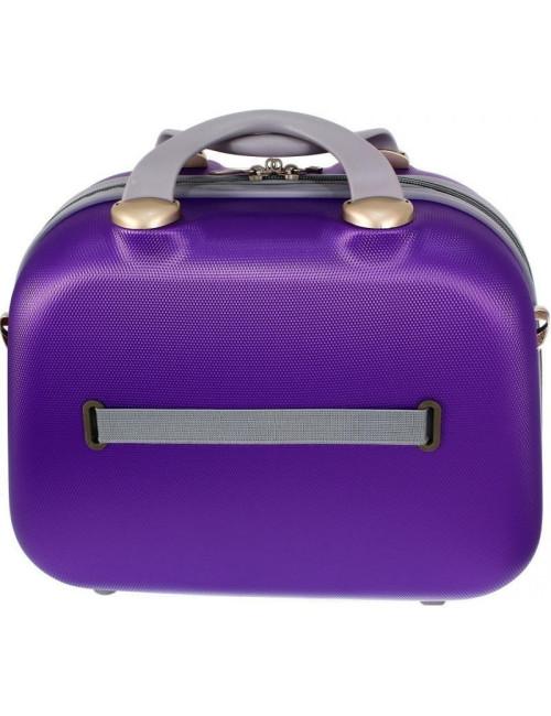 Zestaw kuferków kosmetyczek podróżnych 883 3w1 - pasek do zawieszenia na walizce