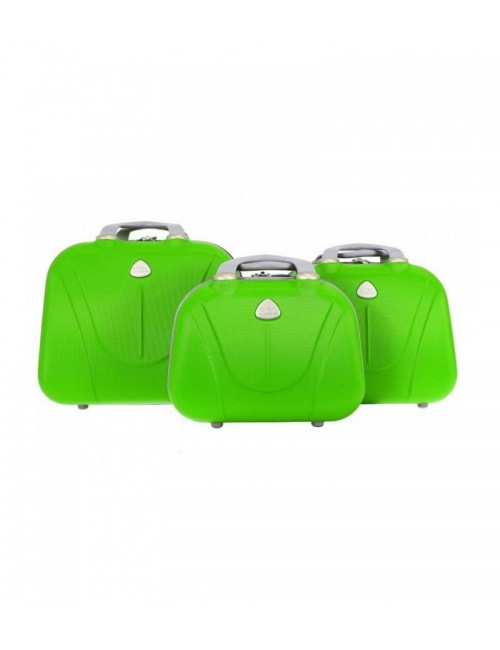 Zestaw kuferków kosmetyczek podróżnych 883 3w1 - zielonych