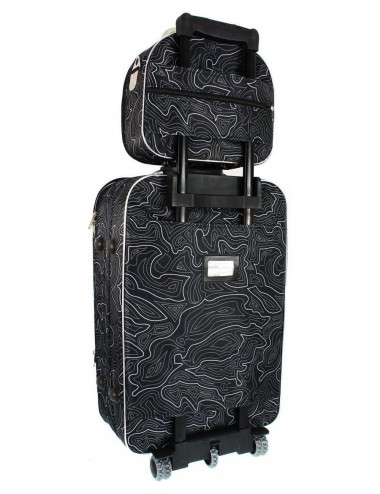 Zestaw kuferków podróżnych kosmetyczek 3w1 773 XXL XL L - pas umożliwiający przenoszenie na stelażu walizki