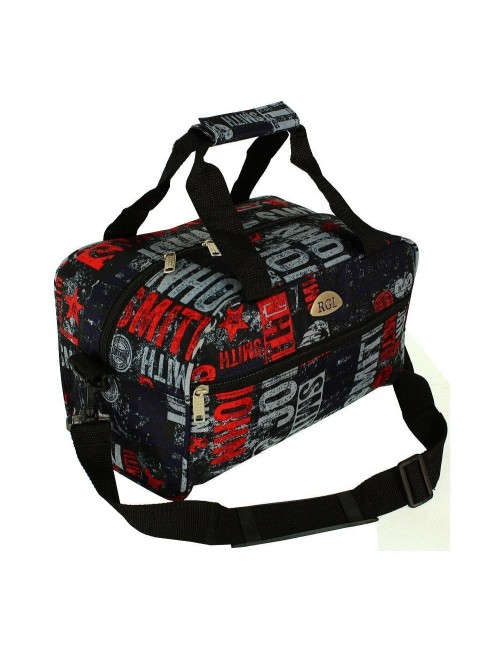 Mała Torba Podróżna NOG RGL -  z przodu torby kieszonka na suwak