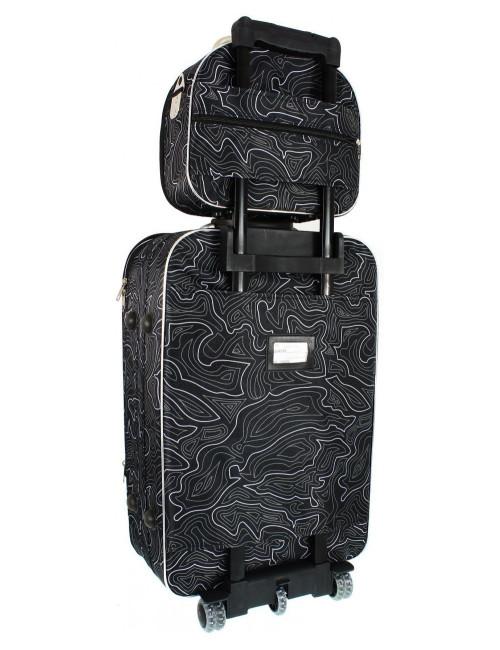 Mały kuferek podróżny kosmetyczka 773 L - pas umożliwiający mocowanie do stelaża walizki