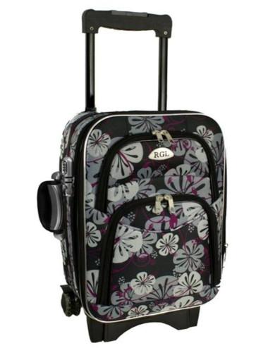 Średnia walizka podróżna na kółkach 773 S - kwiaty