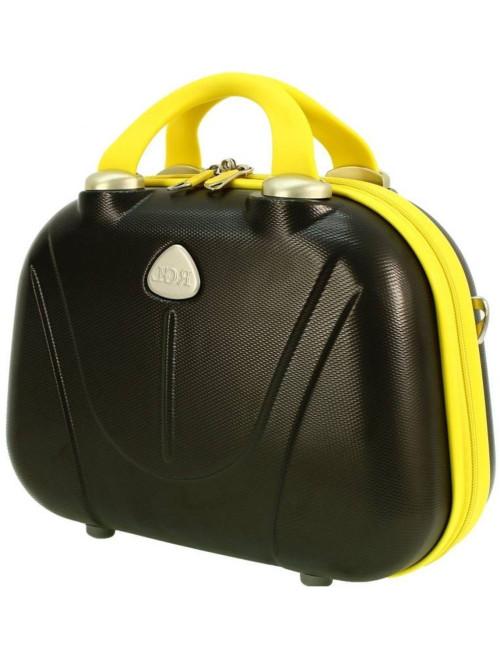 Duży kuferek podróżny 883 XXL - grafitowo-żółty