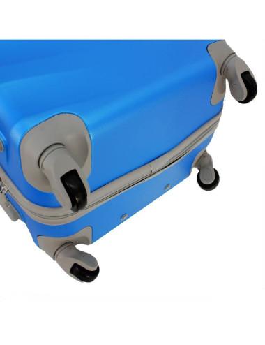 Duża walizka podróżna na kółkach 81 XXL RGL - 4 obrotowe kółka