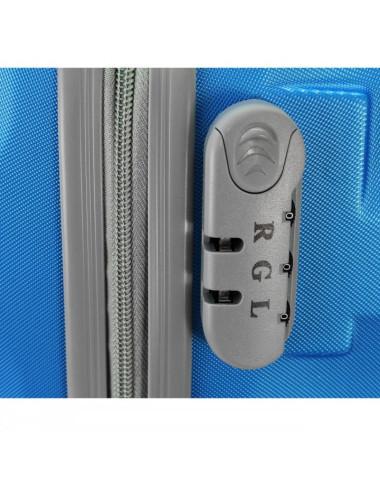 Duża walizka podróżna na kółkach 81 XXL RGL - zamek szyfrowy