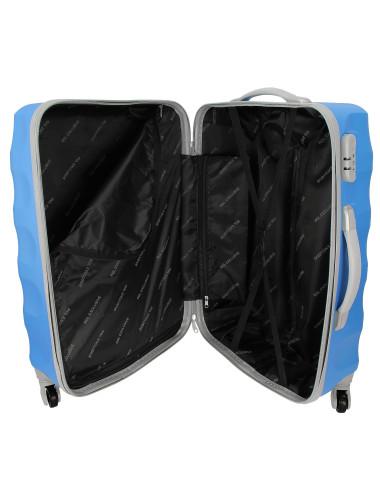 Zestaw walizek podróżnych na kółkach 3w1 81 RGL - wnętrze