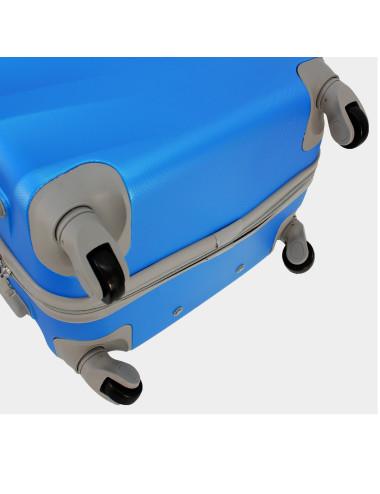 Zestaw walizek podróżnych na kółkach 3w1 81 RGL - 4 obrotowe kółka