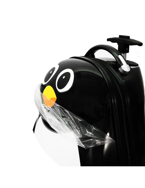 Walizka dziecięca podróżna na dwóch kółkach kauczukowych + plecak gratis - folia ochronna
