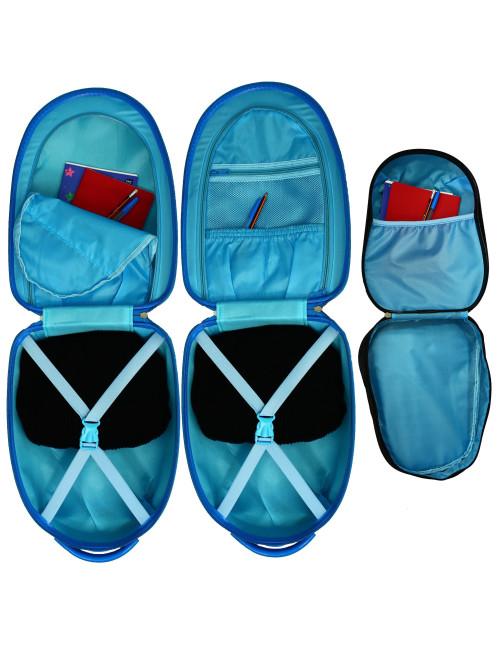 Walizka dziecięca podróżna na dwóch kółkach kauczukowych + plecak gratis -wnętrze