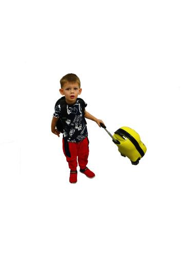 Walizka dziecięca podróżna na dwóch kółkach kauczukowych + plecak gratis - walizka dla dzieci