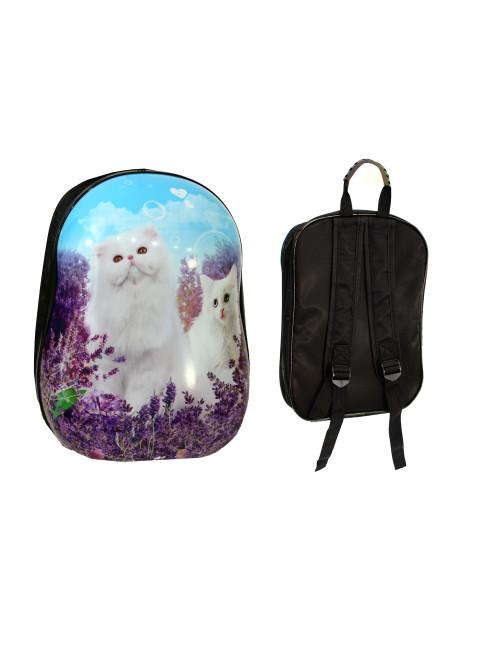 Walizka dziecięca podróżna na dwóch kółkach kauczukowych + plecak gratis - gratisowy plecak