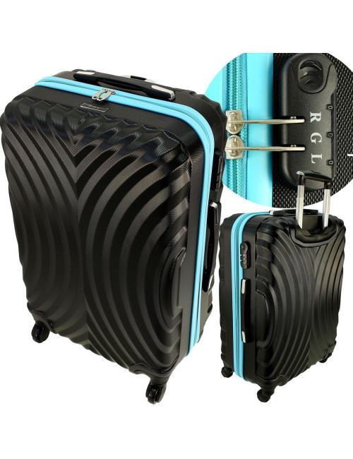 Mała walizka podróżna kabinowa na kółkach 760 L - Solidne Tworzywo ABS