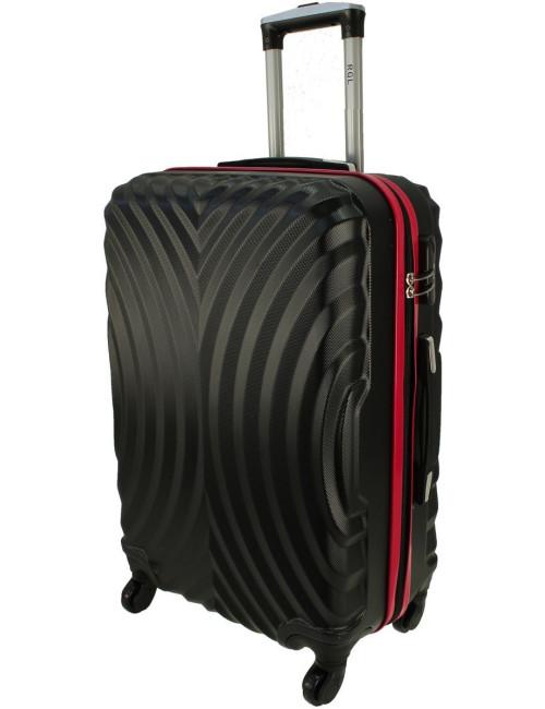 Mała walizka podróżna kabinowa na kółkach 760 L - Czarno-Czerwony