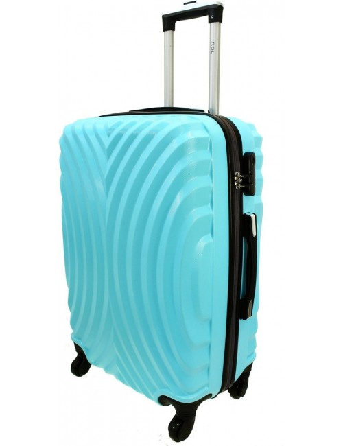 Duża walizka podróżna na kółkach 760 XXL - Lazurowy