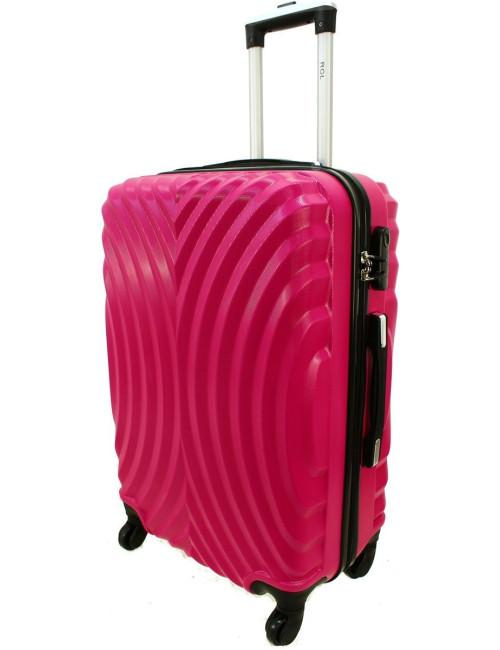 Duża walizka podróżna na kółkach 760 XXL - Różowy