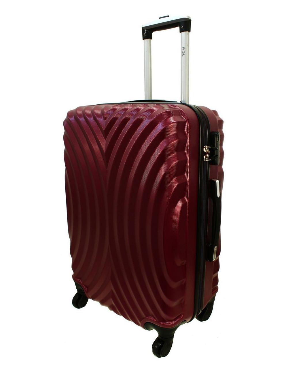 Duża walizka podróżna na kółkach 760 XXL - Bordowy