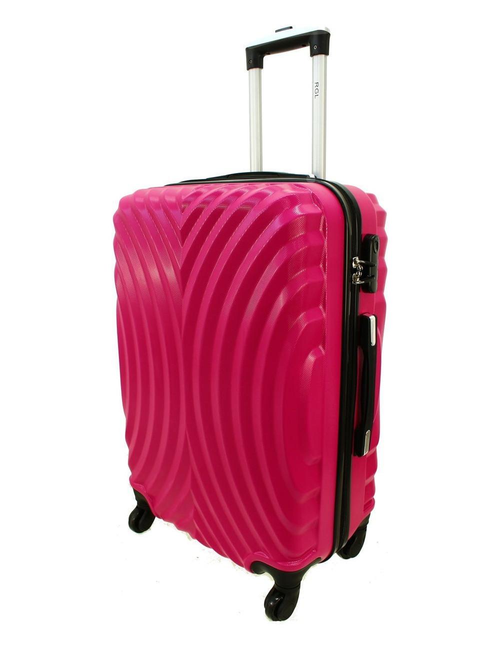 Średnia walizka podróżna na kółkach 760 XL - Różowy