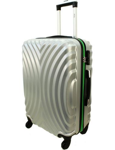 Średnia walizka podróżna na kółkach 760 XL - Srebrno-Zielony
