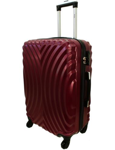 Średnia walizka podróżna na kółkach 760 XL - Bordowy