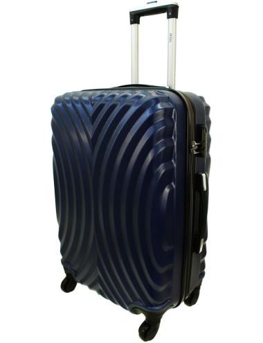 Średnia walizka podróżna na kółkach 760 XL - Granatowy