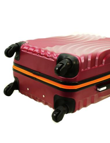 Zestaw walizek podróżnych na kółkach 3w1 760 XXL XL L - Cztery Kauczukowe Kółka