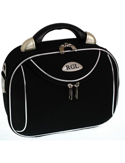 Duży kuferek podróżny kosmetyczka 773 XXL - czarny