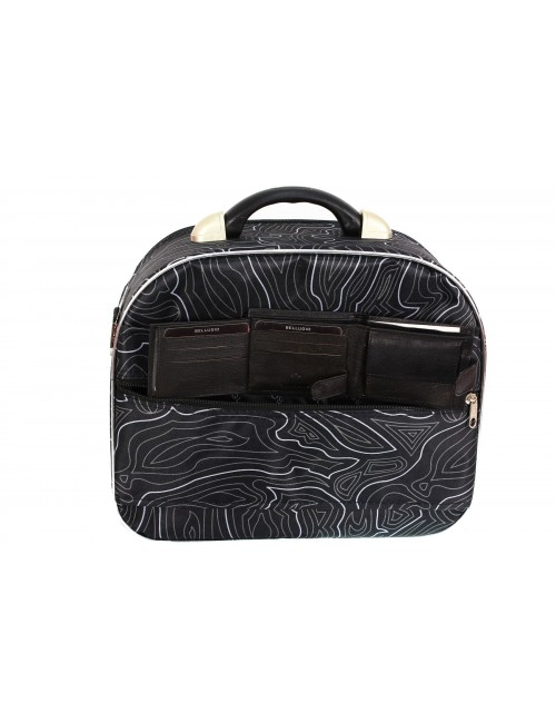 Duży kuferek podróżny kosmetyczka 773 XXL - pas umożliwiający mocowanie na stelażu walizki