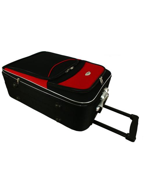 Mała walizka podróżna na kółkach 773 M - dwie pojemne kieszenie