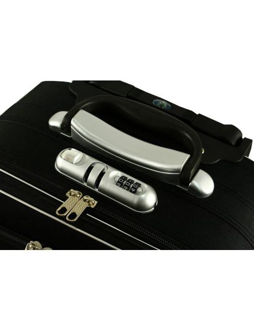 Mała walizka podróżna na kółkach 773 M -  wbudowany zamek szyfrowy