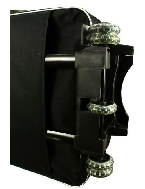 Mała walizka podróżna na kółkach 773 M - kauczukowe kółka