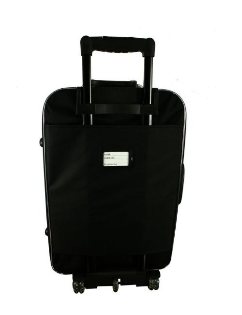 Mała walizka podróżna na kółkach 773 M - etykieta adresowa