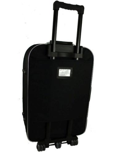 Mała walizka podróżna kabinowa na kółkach 301 L - etykieta dresowa na plecach walizki