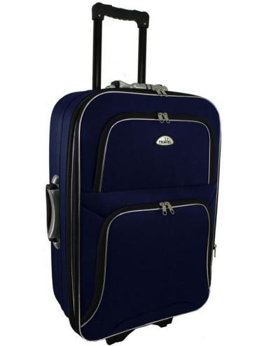 Mała walizka podróżna kabinowa na kółkach 301 L - granatowa