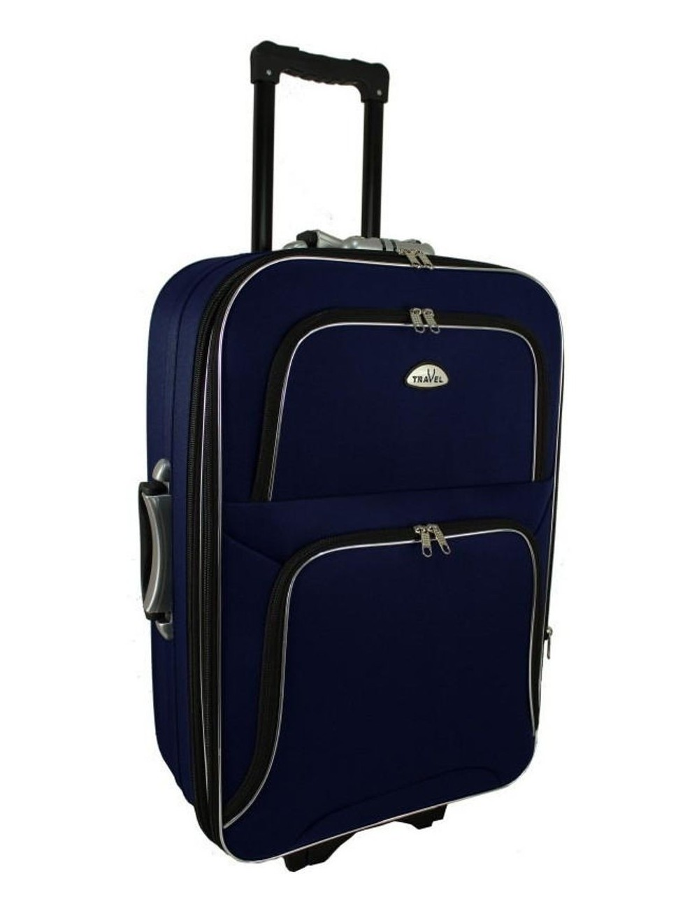 Duża walizka podróżna na kółkach 301 XXL - granatowa