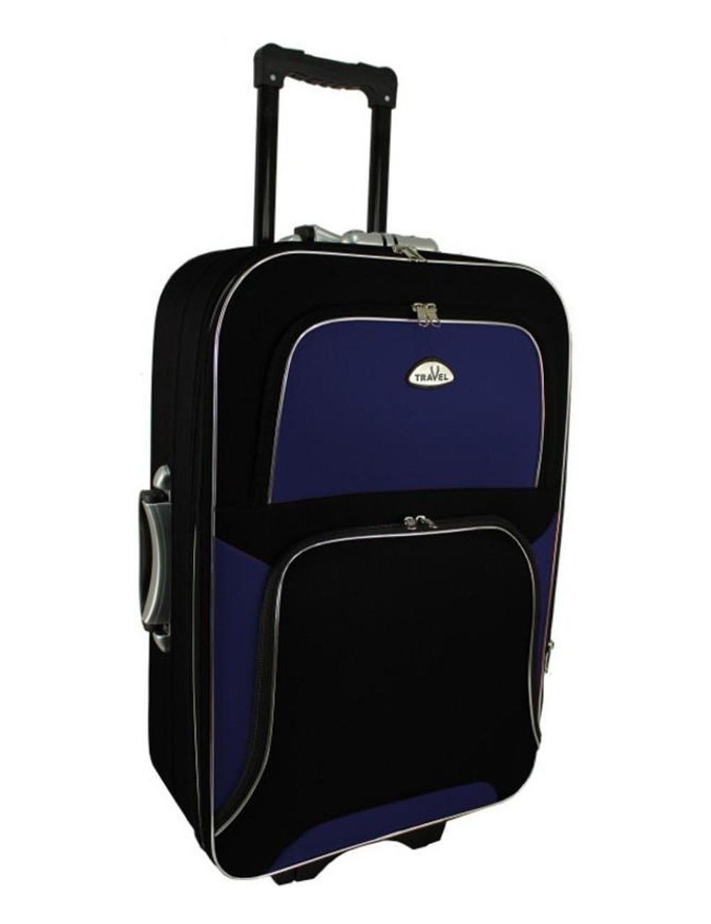 Średnia walizka podróżna na kółkach  301 XL - granatowo-czarna