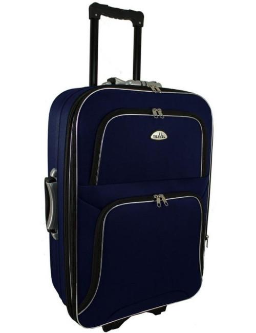 Średnia walizka podróżna na kółkach  301 XL - granatowa